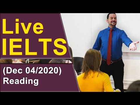 IELTS Live - Reading Section - Getting a Band 9