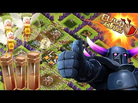 1 PEKKA ALL HEALERS & EARTHQUAKE SPELLS! 3 STAR!?! | Clash Of Clans Attacks | 1 Troop vs Base!
