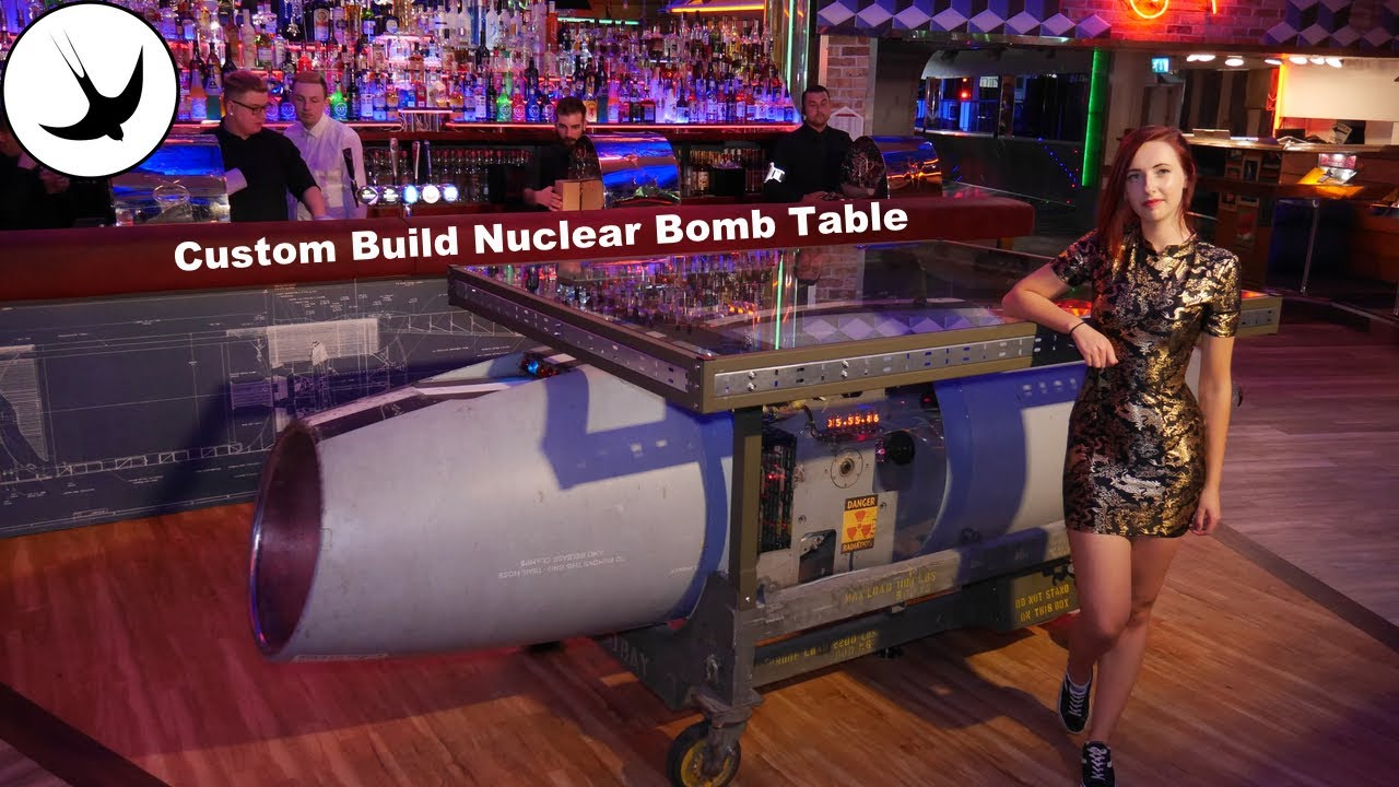 Custom Table Build: Nightclub Nuclear Bomb Table : Swallow Forge