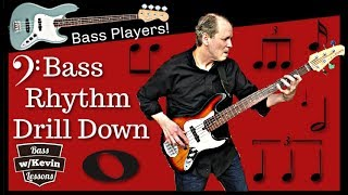 Bass Rhythm Drill Down!! - Bass Lessons With Kevin (Download Mp3 Tracks)