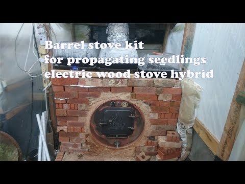 DIY barrel stove kit mass storage heater for propagating seedlings