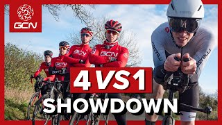 4 VS 1 | Surely 4 Roadies Can Beat A Time Trial Bike?!