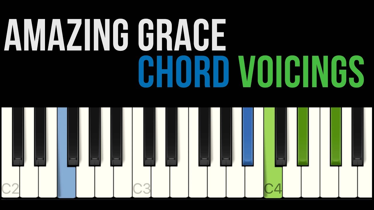 Amazing Grace keyboard chords + voice