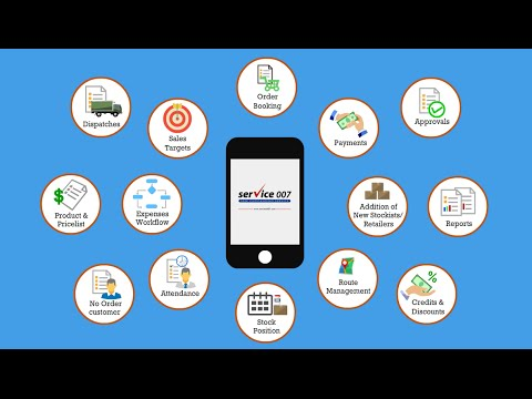 Service 007 Field Force Management / Sales & Distribution CRM and Mobile App