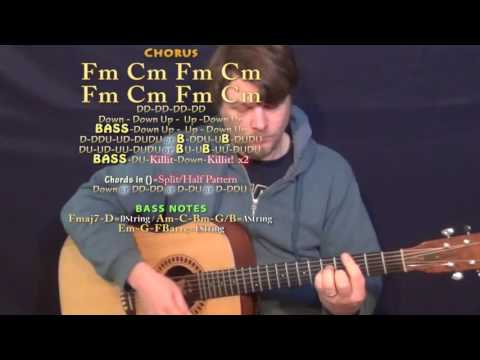 No Flockin (Kodak Black) Guitar Lesson Chord Chart in Fm Minor