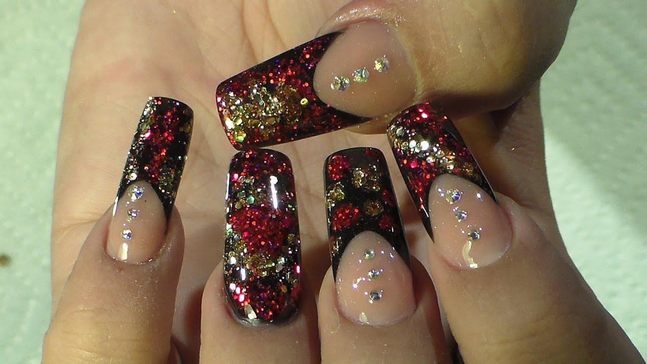 Diseño Elegante - Natos Nails - Uñas Acrilicas - Acrylic Nails - YouTube