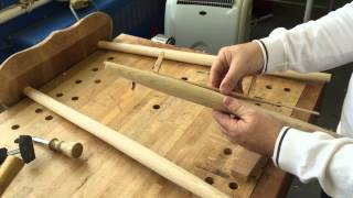 Shaping Chair Rails And Drilling Holes In Windsor Chair Legs