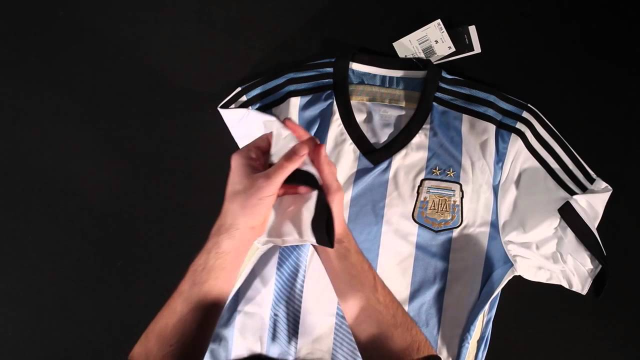 4404c6c1911 adidas Argentina 2014 Home Soccer Jersey - Unboxing. World Soccer Shop