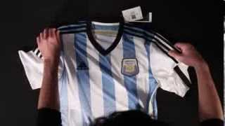 adidas Argentina 2014 Home Soccer Jersey - Unboxing
