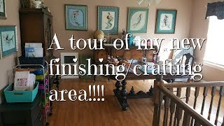 Cross Stitch/Flosstube #233 A tour of my new dedicated finishing area!!!