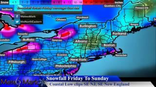 Coastal Low to Clip Parts of Southeastern New England, NJ : Jan 5, 2017