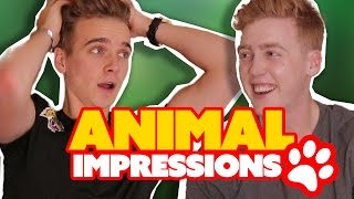 ANIMAL IMPRESSIONS CHALLENGE!! ft Joe Sugg