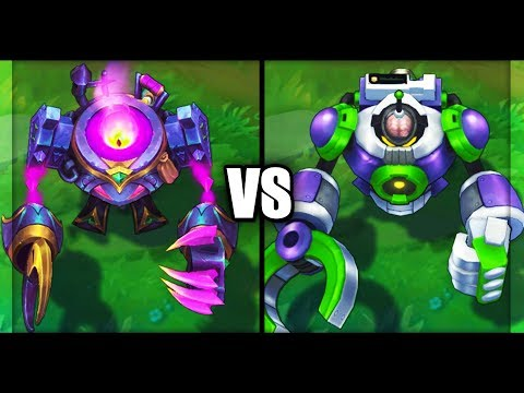 Witchs Brew Blitzcrank vs Battle Boss Blitzcrank Epic Skins Comparison (League of Legends)