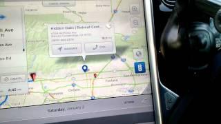 Tesla model S calendar integration with navigation