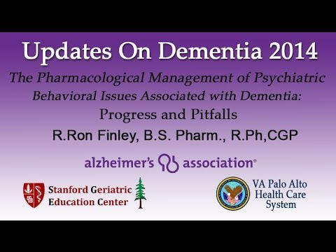 """R.Ron Finley, B.S. Pharm.: """"The Pharmacological Management of Issues Associated with Dementia"""""""