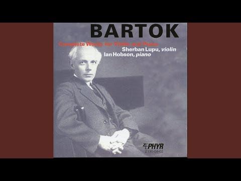 Roman nepi tancok (Romanian Folk Dances) , BB 68 (arr. Z. Szekely for violin and piano) : No....