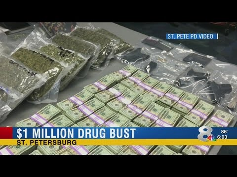 Million-dollar drug bust in St. Pete