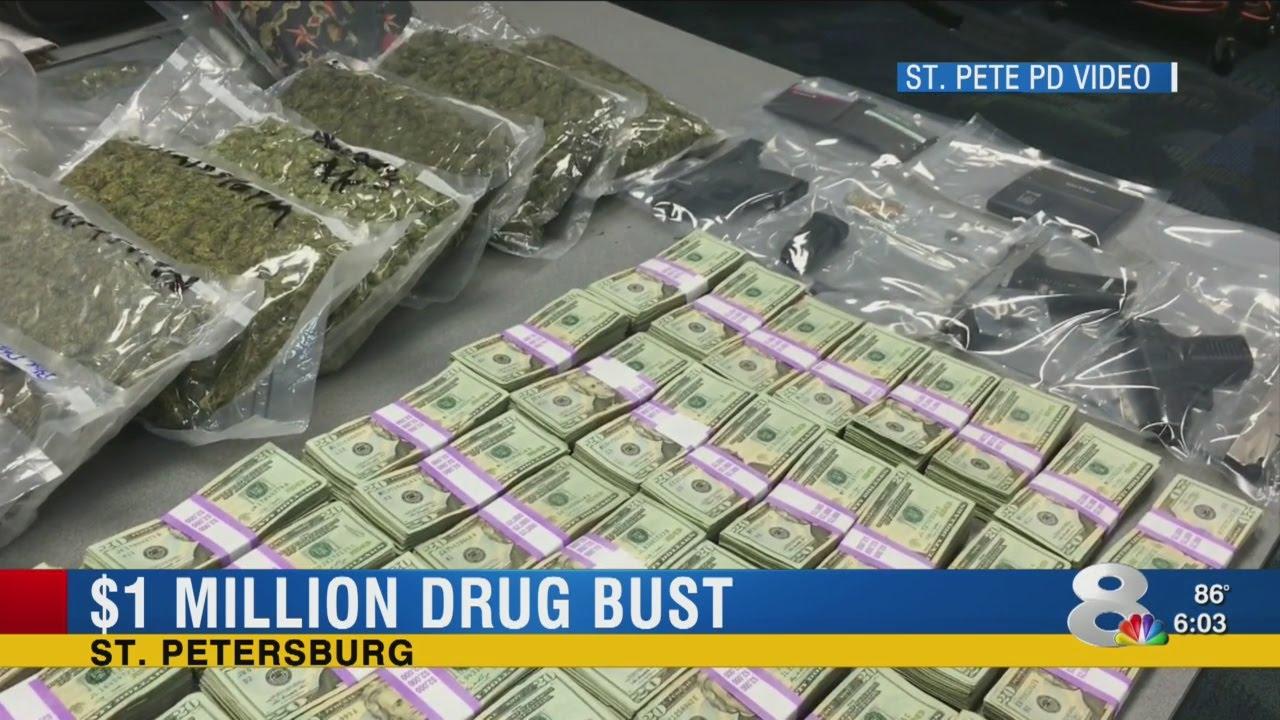 Million-dollar drug bust in St  Pete