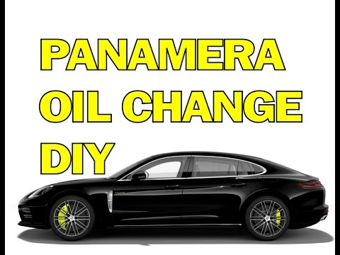 PANAMERA OIL CHANGE - HOW TO CHANGE THE OIL IN YOUR PORSCHE