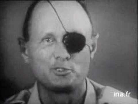 משה דיין במהלך מלחמת ששת הימים - 1967 - YouTube