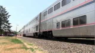 [HD] Amtrak's Southwest Chief and California Zephyr w/ PV Cars- Princeton, IL