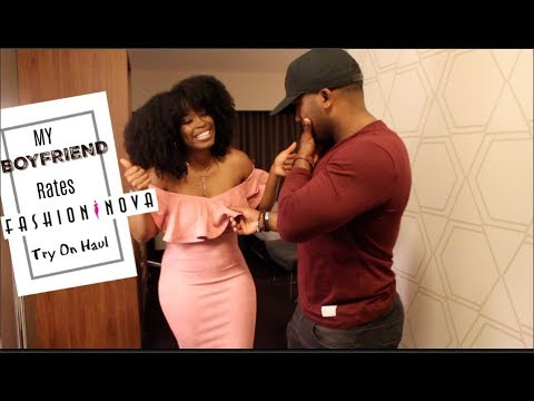 MY BOYFRIEND RATES MY FASHION NOVA Try On  HAUL