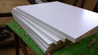 棚板 オーダー カット ホワイトカラー化粧板で棚段数を増やす thumbnail