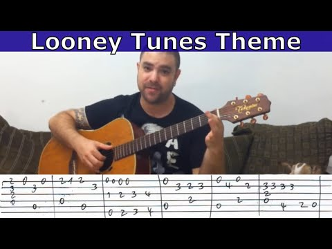 Tutorial: Looney Tunes Theme (Chet Atkins Arrangement) - W/ TAB (aka Merrily We Roll Along)