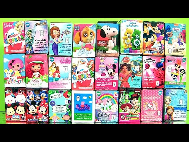 25 Surprise Eggs! Vampirina Kinder Surprise MLP Pixar Angry Birds Disney Princess
