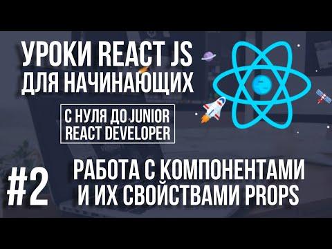 Уроки React Js Компоненты и свойства Props