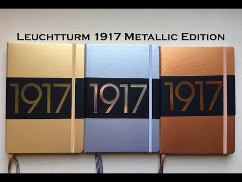 Leuchtturm 1917- Metallic Editions |Gold, Silver, Copper|