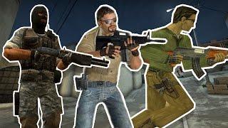 Эволюция серии игр Counter-Strike (CS: 2000 - 2014 | CS:GO CS:S CS:1.6)