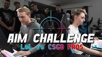 Which Pros have the BEST AIM? - Cloud9 LoL vs CS:GO Aim Challenge!