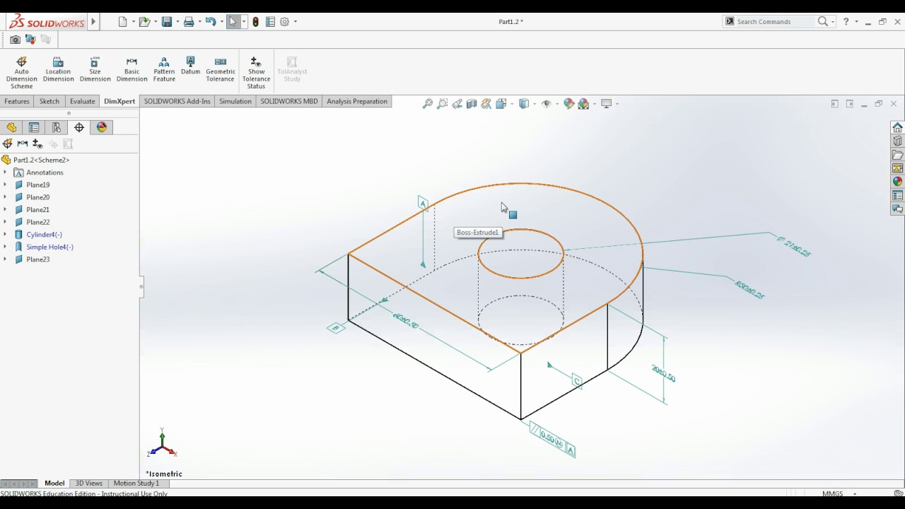 How To Apply Geometric Dimensioning And Tolerancing To 3d Model And