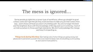 LIVE Now Spoke Webinar | Learning How To Live In The Mess: Post Grad Life with Alexis Harmon