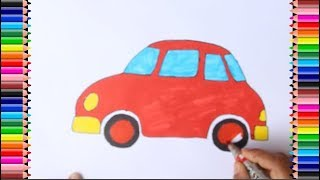 How to draw a Car for kids | how to draw a car for kids easy | #KairavColoringPages