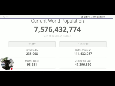 World population in 2017  Live Count Stream