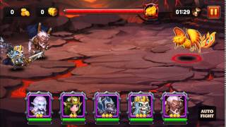 Heroes Charge: Outloand Portal - Burning Phoenix killed using lv 55 physical team