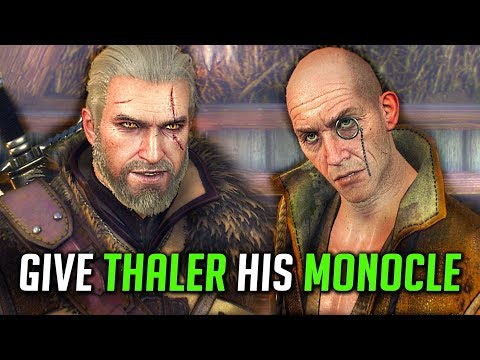Witcher 3: [Rare Footage] Give Thaler His Broken Monocle From The Frying Pan Lady's House