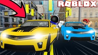 PLAYING TAG USING CARS!! - ROBLOX MAD CITY