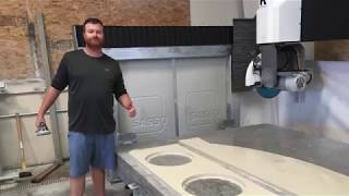 Sasso K600 5 axis CNC saw Installation in Lodi California