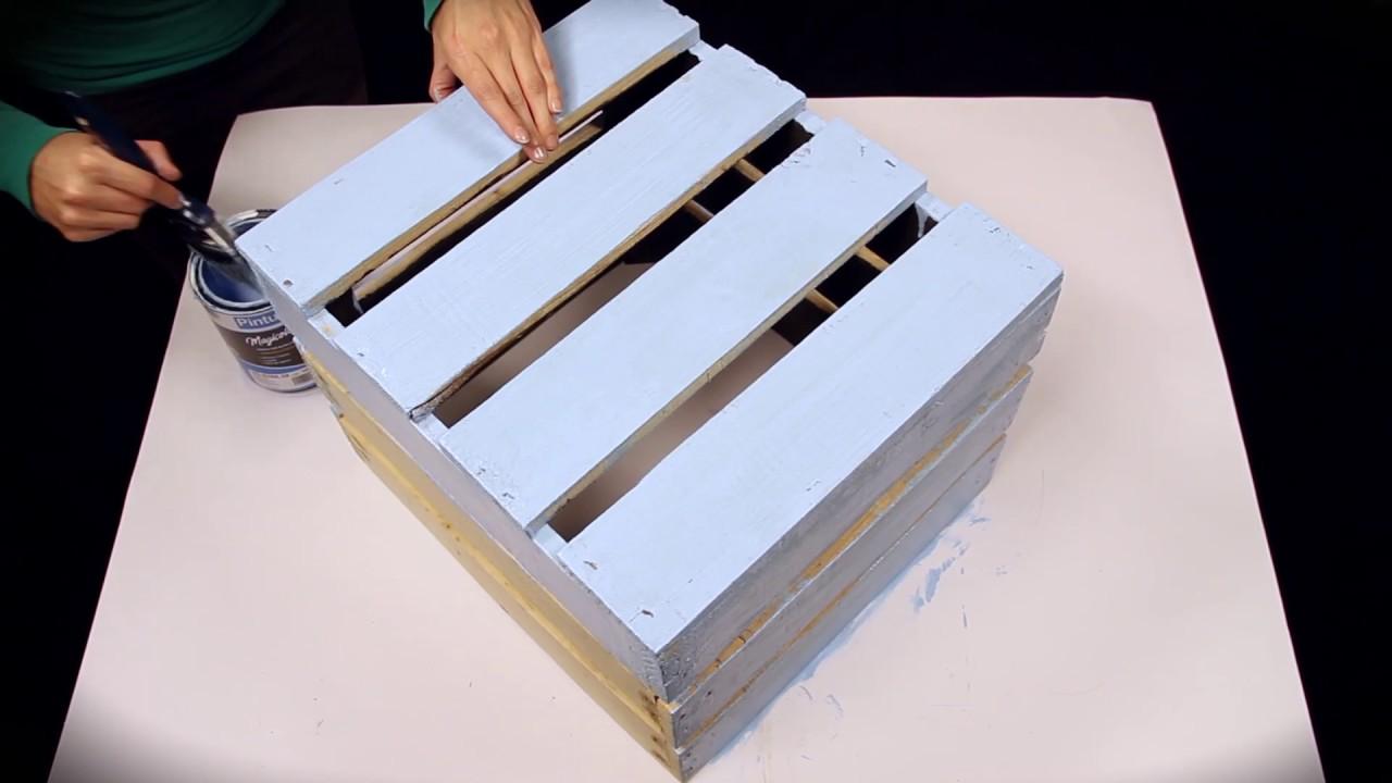 Dise a tus muebles con huacales reciclados youtube - Como forrar muebles con tela ...