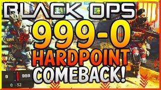 "Black Ops 4: ""999-0 HARDPOINT COMEBACK WIN!"" - Team Challenge #9! (GREATEST COMEBACK IN COD HISTORY)"