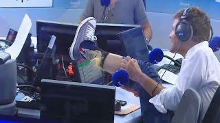 Thomas Sotto et ses chaussettes... Donald Trump !