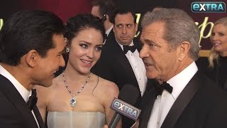 Mel Gibson's Funny Reaction to GF Rosalind Ross' Post-Baby Bod at the Oscars