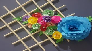 Beautiful wall hanging flowers with color sheets