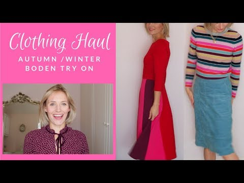 Autumn / Winter 2018 Try on  / Boden clothing / Shopping haul