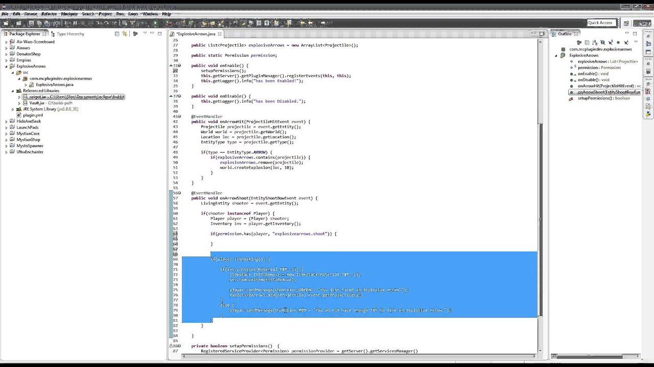Minecraft Bukkit / Spigot 1 8 1 Plugin Development for Beginners - Vault  Permissions Part 4 / 5