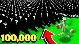 UNSPEAKABLE VS. 100,000 MINECRAFT ___________