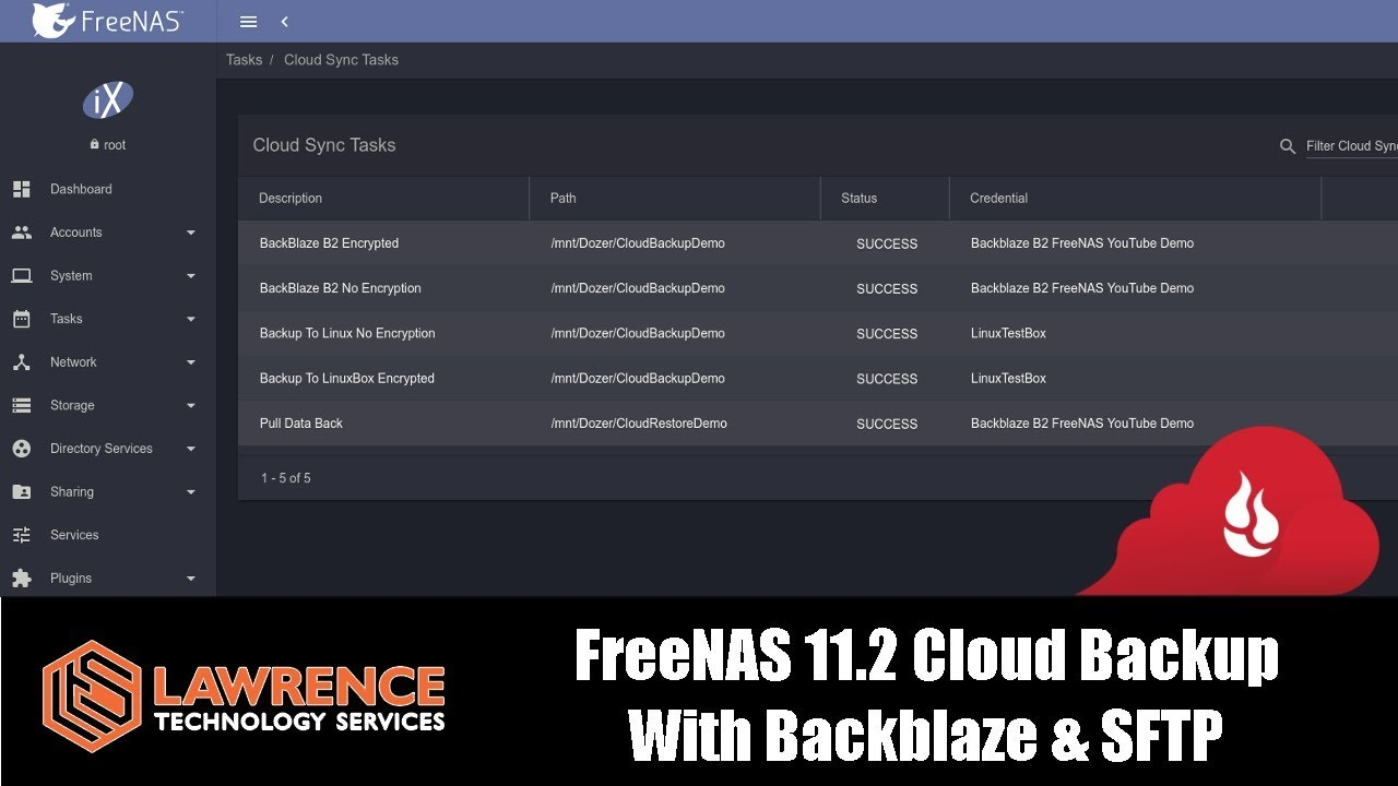 FreeNAS 11 2 Cloud Backup, Restore & Encryption With Backblaze & SFTP